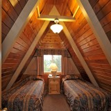 Upstairs bedroom - A Frame Chalet