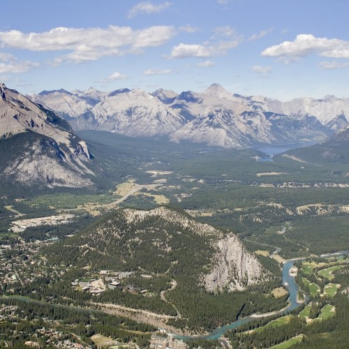 The view from Sulphur Mountain near Banff, Alberta.
